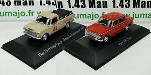 LOT-2-Voiture-1-43-SALVAT-Autos-Inolvidables-Fiat-1500-et-1500-Multicarga