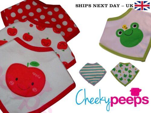 vert 6 Pack! bambin dribble bib bundle Apple blanc grenouille rouge bébé