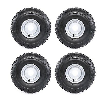 4 Pcs Go-kart ATV Tire with Wheel Assembly 145//70-6 Rim Go kart Mini Bike