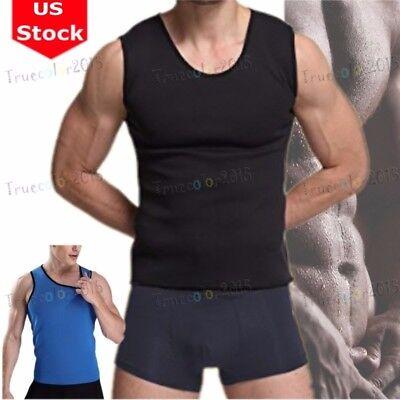 c540d3a64b Hot Men Gym Sauna Sweat Suit Body Shaper Belly Tummy Trimmer Slimming Shirt  Vest