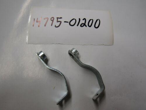 Suzuki K15 NOS exhaust heat shield bracket 14795-01200 sold as pair