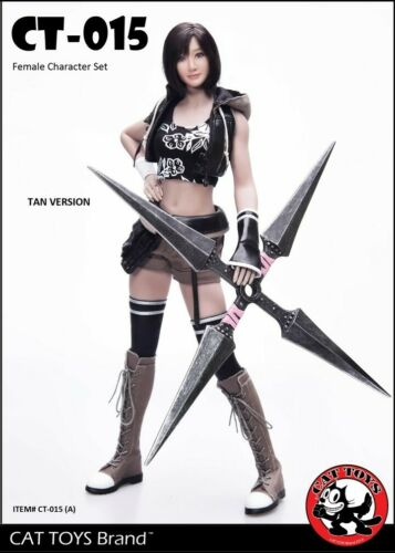 1//6th CAT TOYS CT015A Fighting Girl Head Sculpt/&Tan Clothes Set Fit 12/'/' Figure