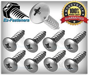 "Sheet Metal Screws Stainless Steel Phillips Truss Head #10 x 1//2/"" Qty 100"