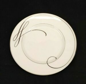Waterford-Fine-Bone-China-Ballet-Ribbon-Bread-Plate-Platinum-Rim