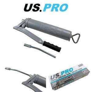 US-PRO-Tools-500cc-Grease-Gun-Manual-8000psi-Pumping-Action-amp-Non-Return-Valve