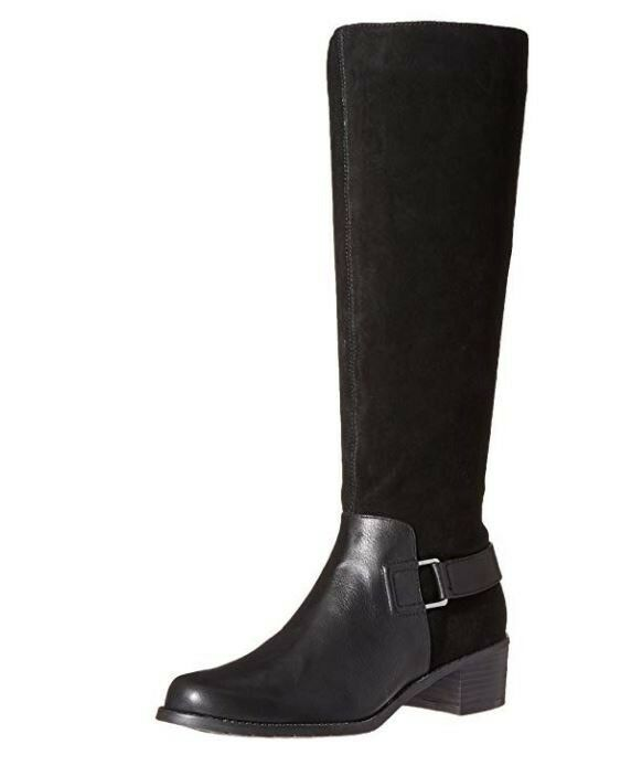 Aerosoles Women's After Hours Riding Boot, Black Combo, 9 M US