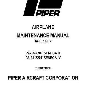 Piper pa30 & pa39 twin comanche maintenance manual (part# 753-645).