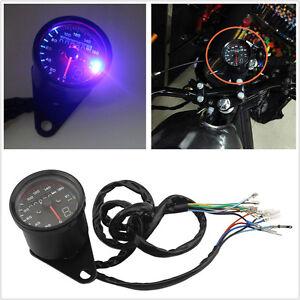 0~160km/h DC12V Motorcycle Bike LED Backlit Speedometer Gear