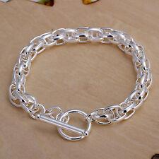 Damenarmband Ankerkette /Kordel Armband 20cm pl. mit Sterlingsilber DA041 T::A
