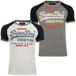Superdry-T-shirt-homme-034-Premium-Goods-Raglan-Tee-034-a-Manches-Courtes