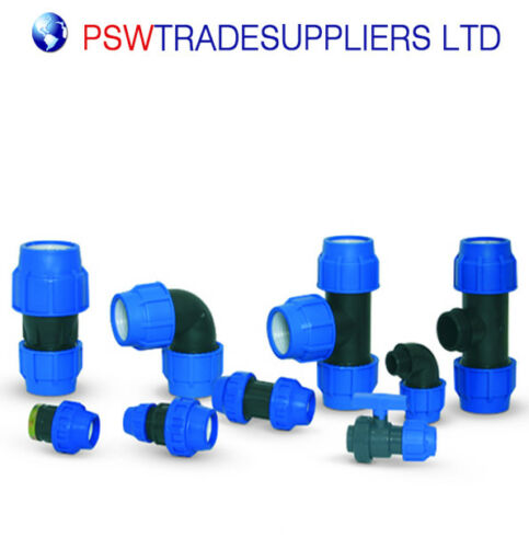 La reducción de acoplamiento Recto de compresión de montaje Azul water//mdpe//alkathene Pipa