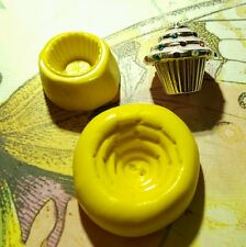 2 Part Cupcake Silicone Mold for polymer clay, resin, wax, fondant, etc.