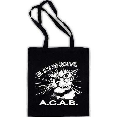 ALL CATS ARE BEAUTIFUL AC AB Beutel Punk Oi Skinhead Punkrock FCK CPS 13 12 Bag