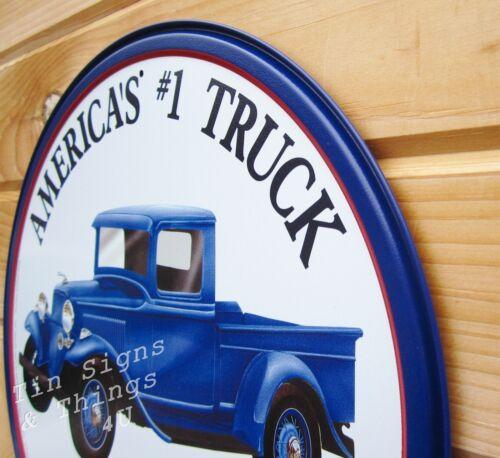 America/'s #1 Truck Ford TIN SIGN metal garage decor blue antique pickup art 1009