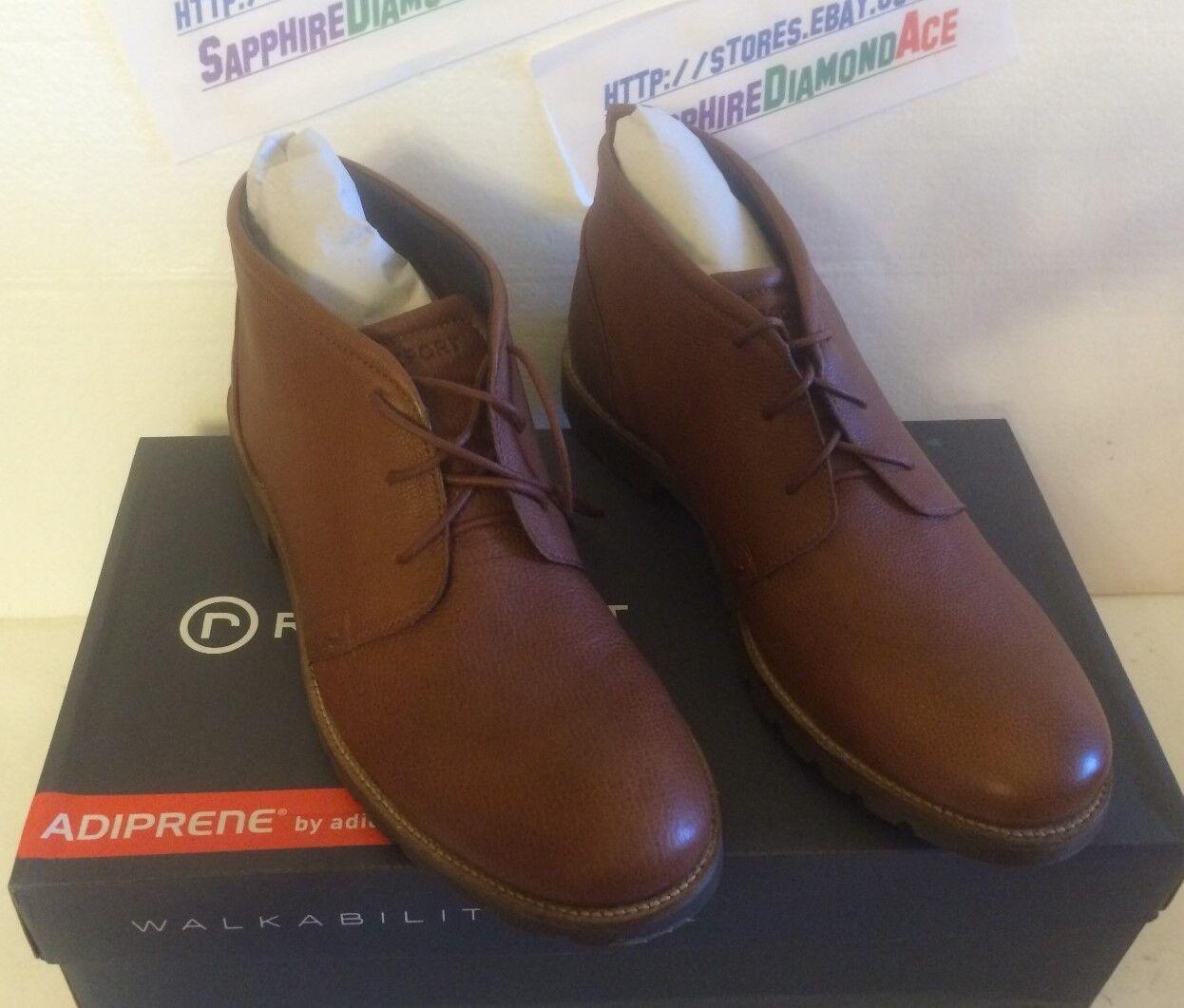 Rockport Para Hombre charson Oscuro Bronceado Tobillo Adiprene botas nos 12m v74222 Nuevo
