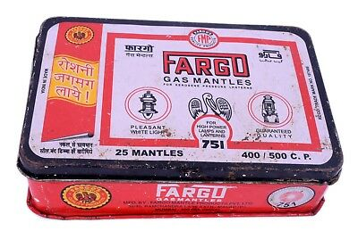 Women Bright Rare Collectible Decorative Fargo Gas Mantles Vintage Ad Litho Tin Box I2-91 Au Suitable For Men And Children