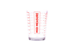 Appetito 3284-2 Midi Measure Glass - 125ml