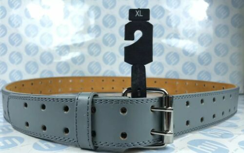 """Men's Genuine Leather Belt Grey With Two Whole Strong Lock XL 35mm-113cm 36""""-43"""""""