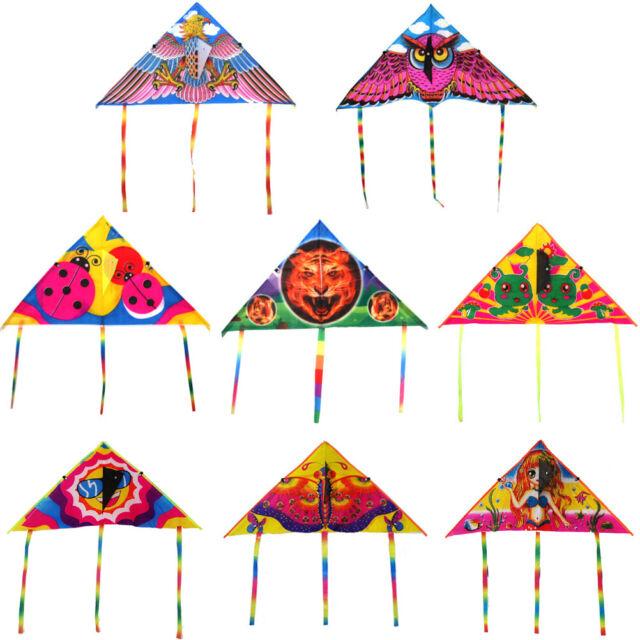 1Pc Cute cartoon kite foldable outdoor flying kite children kids sport toys  S