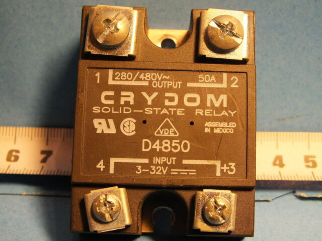 CRYDOM D4850 Output - 280-480VAC 50A  Input- 3-32VDC Solid State Relay
