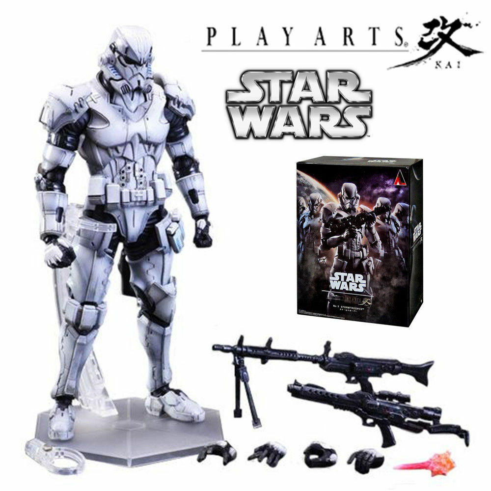 PLAY ARTS KAI VARIANT SQUARE ENIX STAR WARS STORMTROOPER ACTION FIGURES KO TOY