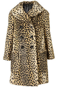 In New Uk Fur 10 Splendida Multi Coat Topshop Leopard Faux Vintage awpUSxBTaq
