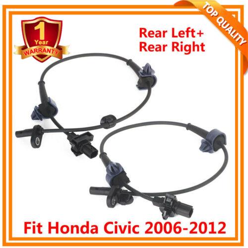Rear Right  /& Left For Honda Civic ABS Sensor  Wheel Speed Sensor 2006-2012