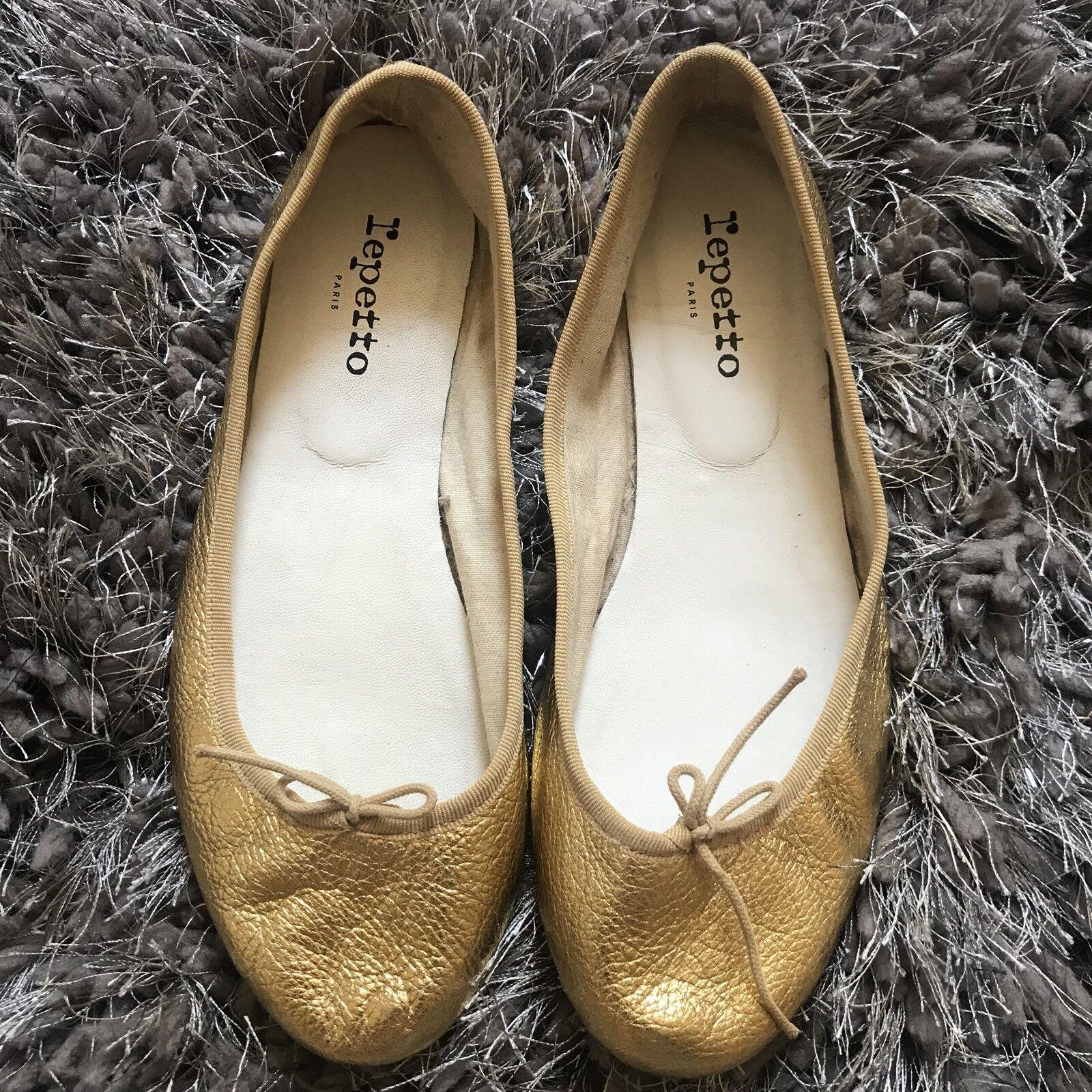 Repetto Cendrillon France Ballet Flats Gold Size 40 France Cendrillon b33ee6