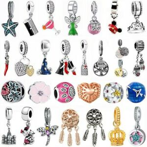 2PCS-European-Charm-pendant-DIY-Lot-Bead-For-sterling-925-silver-Bracelet-bangle