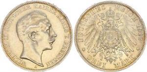 Prussia 3 Mark 1912 A Wilhelm II (4) XF+ 47695
