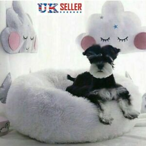 Comfy-Calming-Dog-Cat-Bed-Round-Warm-Soft-Plush-Pet-Bed-Marshmallow-Cat-Bed-LOCA