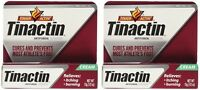 2 Pack - Tinactin Antifungal Cream - Cures Most Athlete's Foot .5oz Each on sale