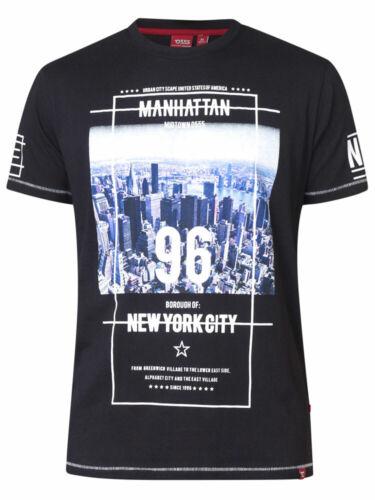D555 DUKE KINGSIZE MENS MANHATTAN PRINT T-SHIRT NYC 2XL 3XL 4XL 5XL 6XL KS60207