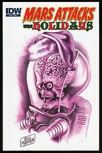 Mars-Attacks-The-Holidays-IDW-Trade-Paperback-TPB-Cover-A-Bill-Morrison-art-New
