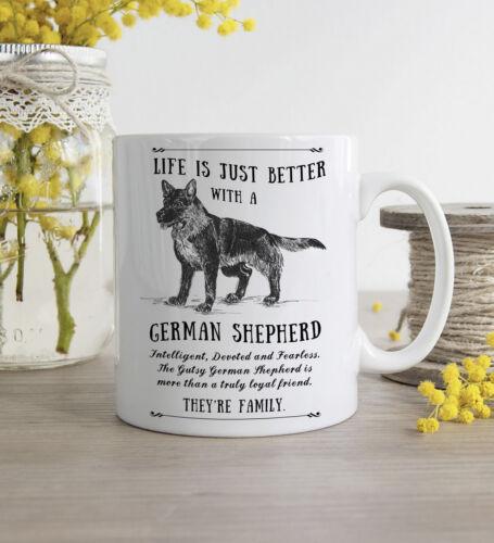 German Shepherd Dog Mug ~ Personalised Custom Gift ~ Vintage Style