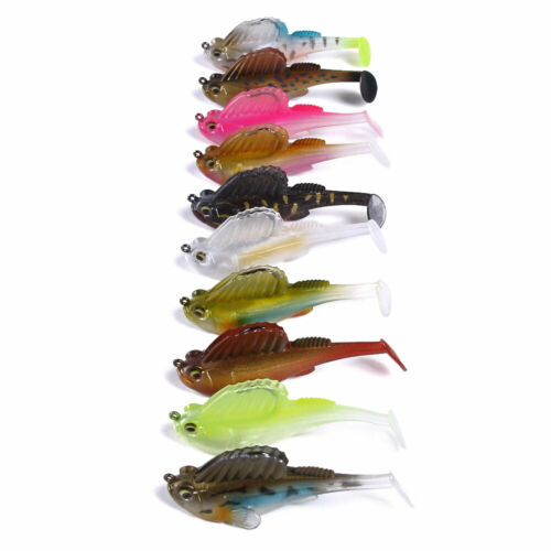 5 Quantum Smelt Shad with Jig 3//0 17g and Stinger Rubber Fish Perch Shad Pike
