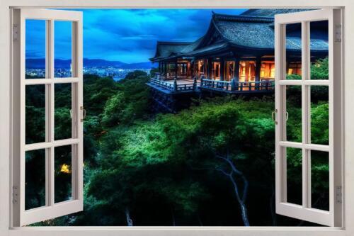 Night In Japan 3D Window Decal Wall Sticker Home Decor Art Mural Nature J865