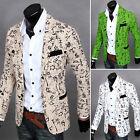 Unique Stylish Mens Slim Fit Casual One Button Suit Coat Jacket Top Blazer XS-L