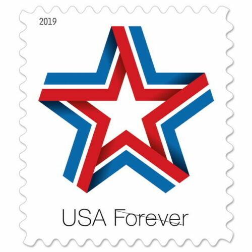 2019 55c Red, White & Blue Patriotic Star Ribbon Scott