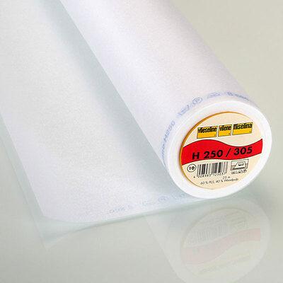 25m Rolle Freudenberg H250 weiß 45cm breit Sondermaß Vlieseline Bügeleinlage