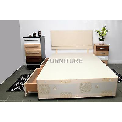2ft6,3ft Single,4ft,4ft6 Double,5ft King Size Bed Base in Gold.Choose Storage.