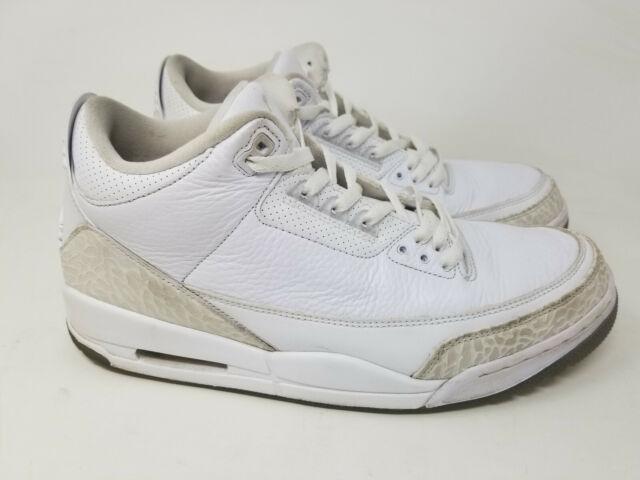 Duplicazione Telegrafo Immaginazione  Nike AIR JORDAN 3 III Retro PURE WHITE Size 12 Men's 136064-111 FREE  SHIPPING for sale online