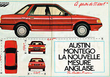 PUBLICITE ADVERTISING 035  1984  AUSTIN ROVER MONTEGO (2pages)