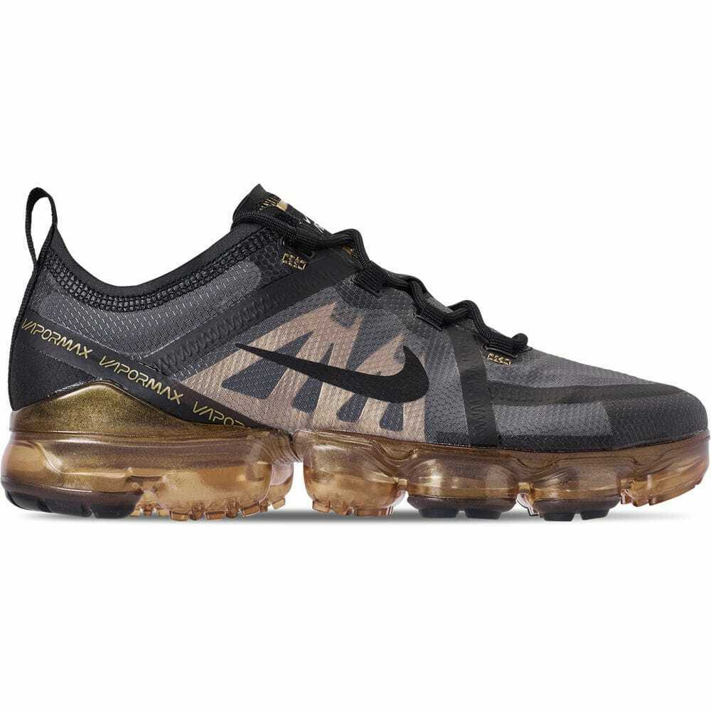Men's Nike Air VaporMax 2019 Running shoes Black Black Metallic gold AR6631 002
