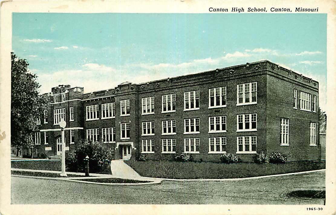 Image 1 - Postcard Canton High School, Canton, Missouri - circa 1920s-1930s