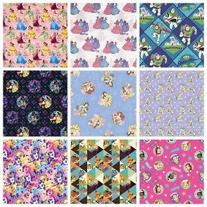 Disney-100-Cotton-Fabric-Pixar-Princess-Nightmare-Villain-Dumbo-sold-per-FQ