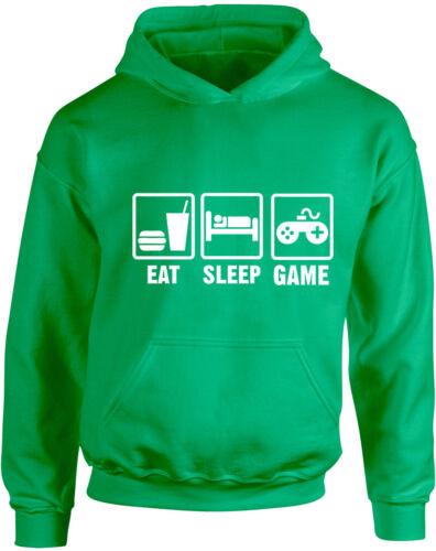 Eat Sleep Game Kid/'s Printed Hoodie Girls Boys Soft Sweatshirt New Pullover