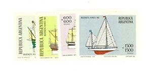 Frugal Argentina Scott B80-b83 Mint Nh Argentina catalog Value $30.00