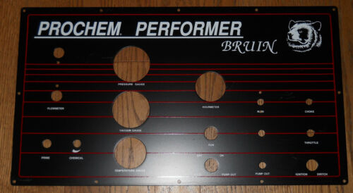 NOS Carpet Cleaning Prochem Bruin Truckmount Instrument Panel New Old Stock