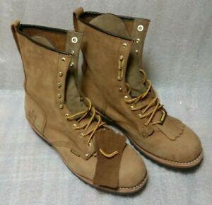 Rhino-Leather-Work-Boots-Steel-Toe-87C48-Size-13-Light-Brown-to-Tan